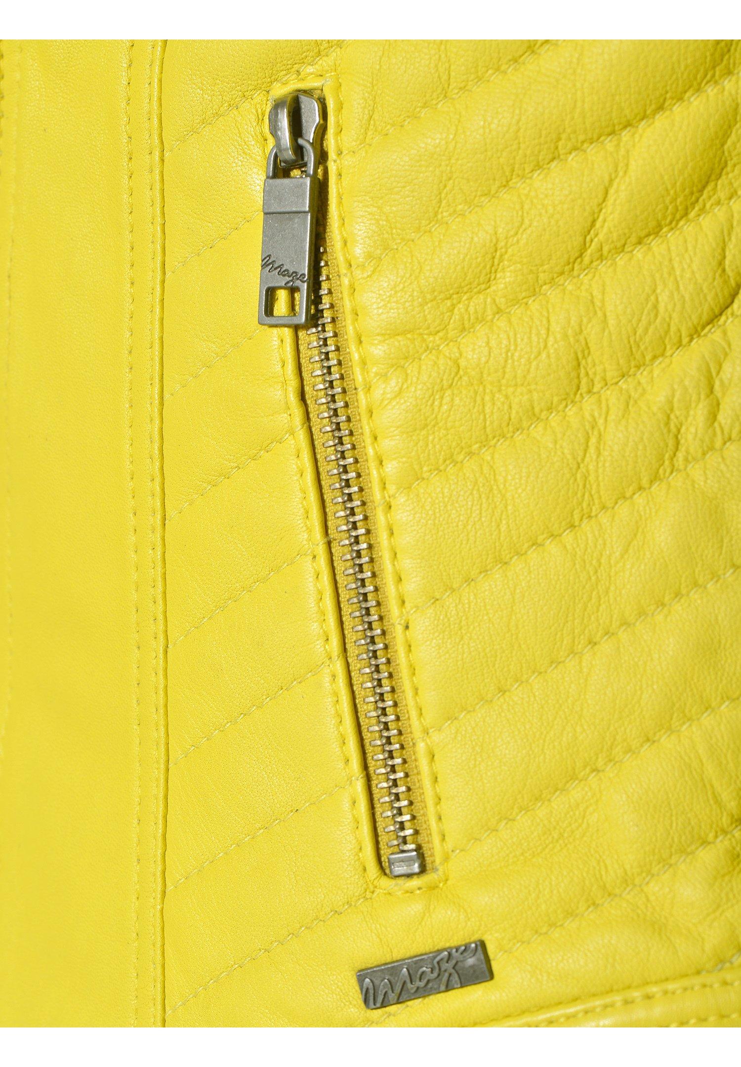 Maze SALLY Lederjacke lemon/gelb
