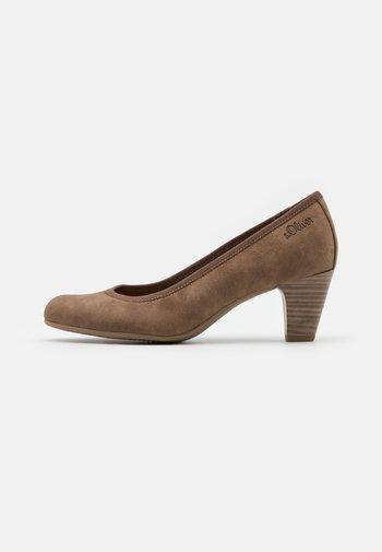 COURT SHOE - Classic heels - pepper