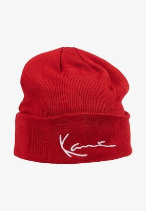 SIGNATURE BEANIE - Lue - red