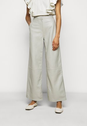 TOLIE - Leather trousers - grey