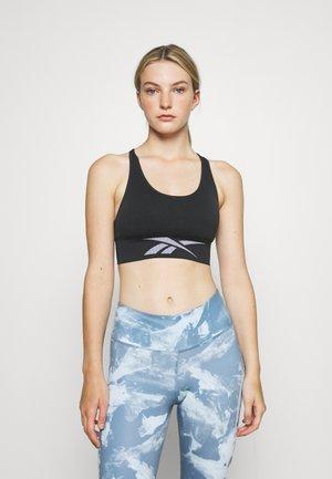 SEAMLESS BRA - Light support sports bra - night black