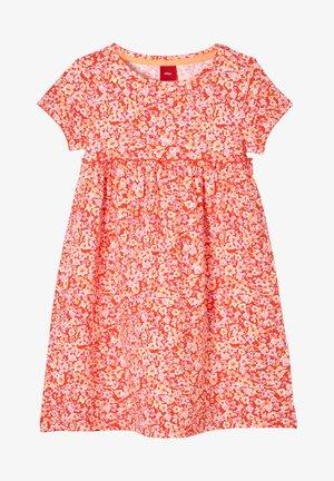 Jersey dress - orange aop