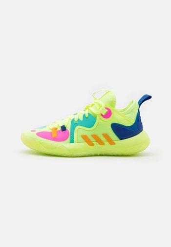 HARDEN STEPBACK 2 UNISEX - Basketball shoes - hi res yellow/crew yellow/royal blue