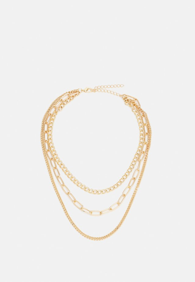 LAYERING CHAIN NECKLACE UNISEX - Ketting - gold-coloured
