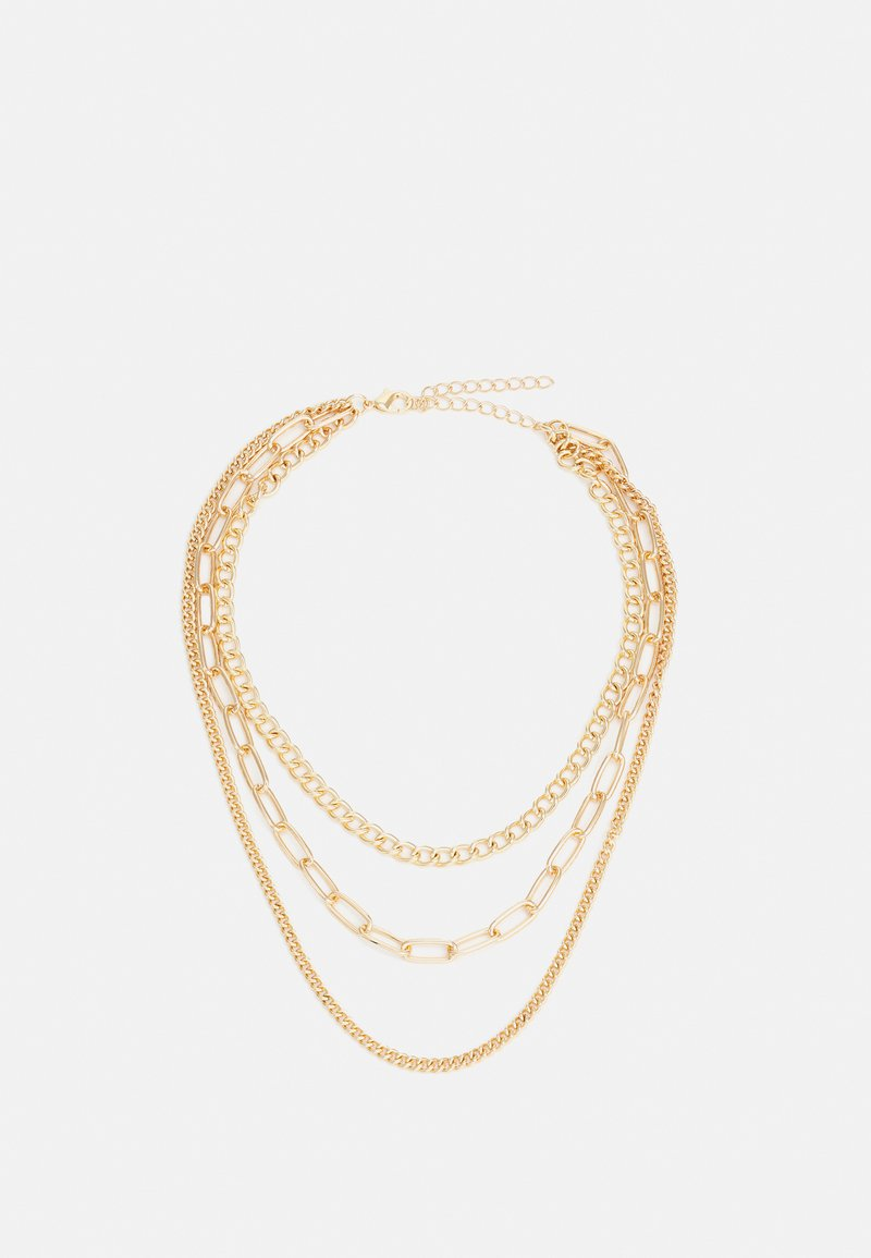 Urban Classics - LAYERING CHAIN NECKLACE UNISEX - Collana - gold-coloured