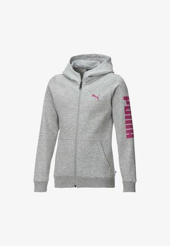 PIGE - Zip-up sweatshirt - light gray heather-pink