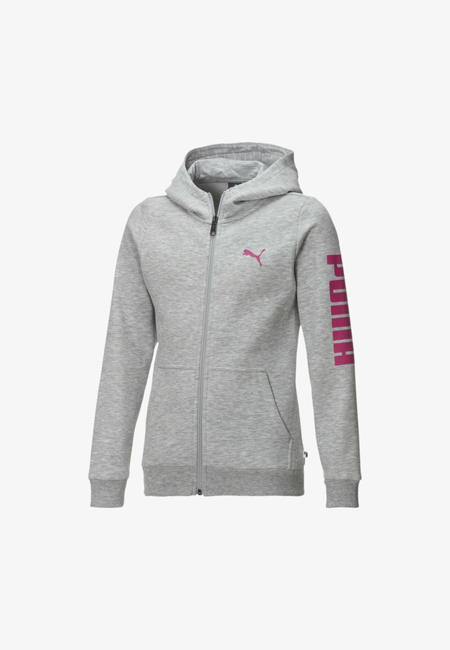 PIGE - veste en sweat zippée - light gray heather-pink
