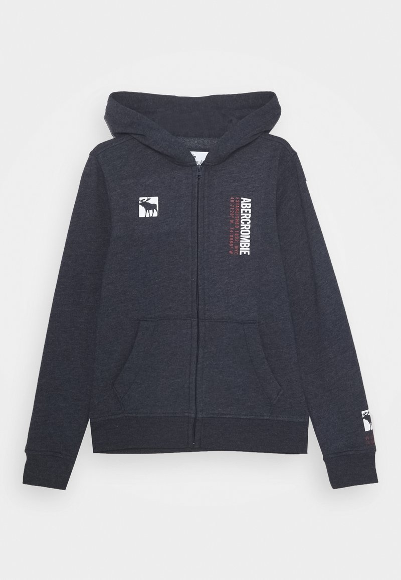 Abercrombie & Fitch - LOGO - Zip-up hoodie - navy