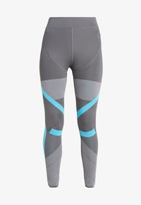 PARLEY PRIMEKNIT RUNNING HIGH WAIST LEGGINGS - Punčochy - grey five/grey/blue