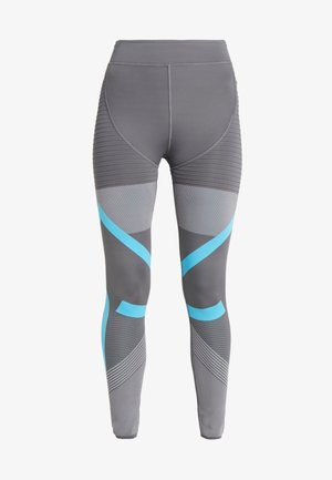 PARLEY PRIMEKNIT RUNNING HIGH WAIST LEGGINGS - Legging - grey five/grey/blue