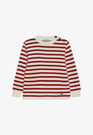 PULL MARIN RAYÉ FOUESNANT - Jersey de punto - nature/braise