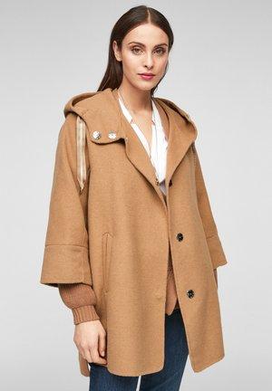LOOSE FIT - Short coat - brown
