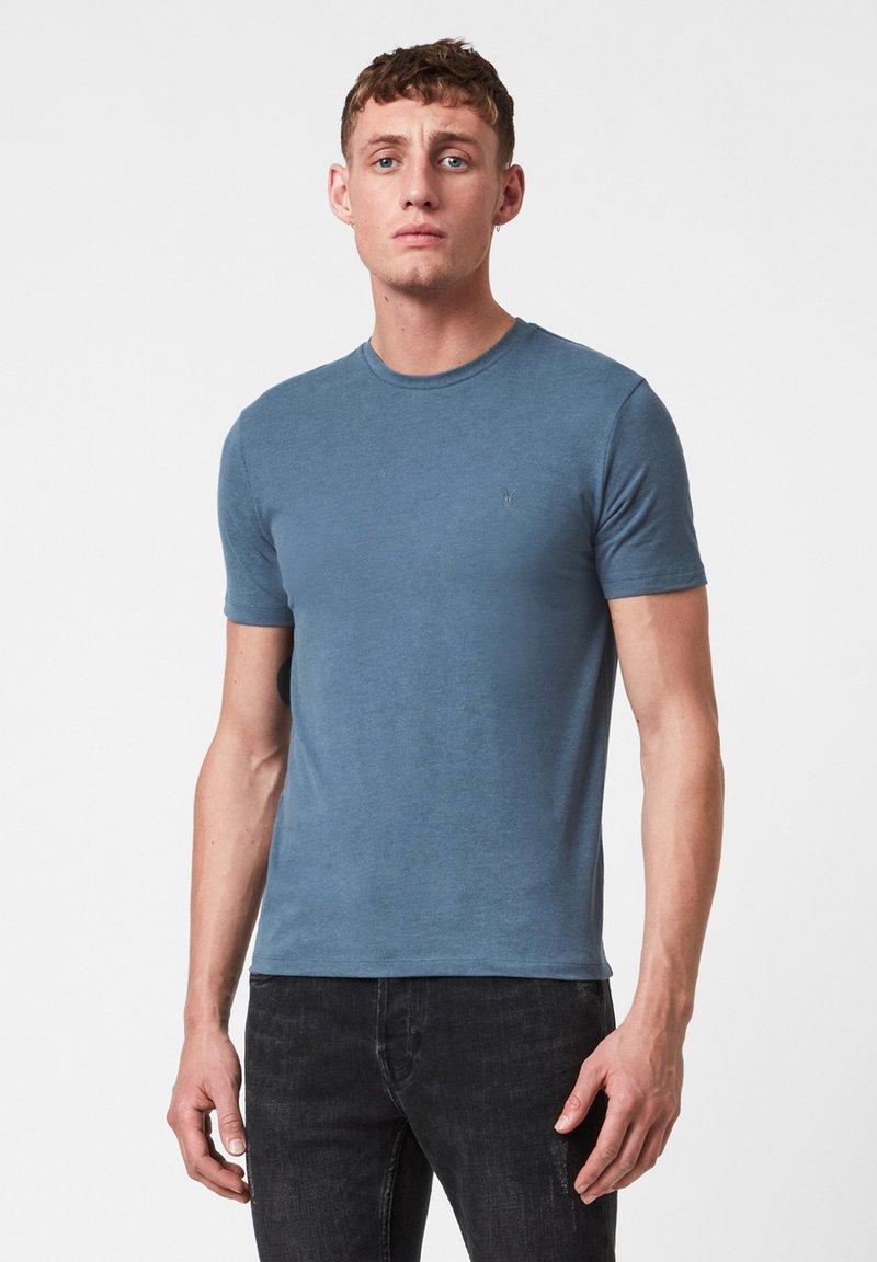 AllSaints - BRACE - Basic T-shirt - mottled royal blue