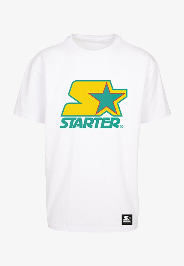 Print T-shirt - white/yellow/green