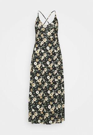 Žerzejové šaty - black/yellow