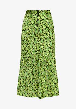 PAISLEY TIERED HEM - Áčková sukně - green