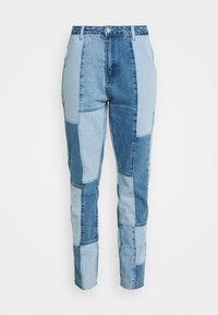 Missguided - PATCHWORK - Jeans straight leg - blue - 3