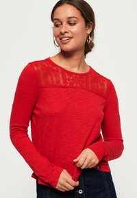 Superdry - Long sleeved top - red - 0