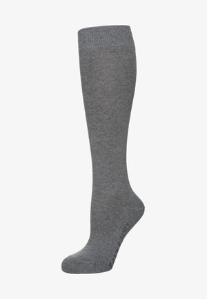 Knee high socks - light grey melange