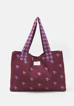 LARGE DOGTOOTH MIX - Shopping bag - lavender