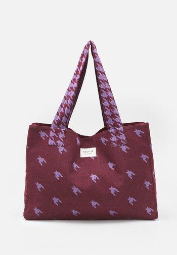 LARGE DOGTOOTH MIX - Tote bag - lavender