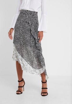 ALICIA - Maxi skirt - black print