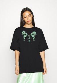 Even&Odd - Camiseta estampada - black - 0
