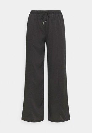 WIDE LEG CASUAL TROUSER - Pantalones - black