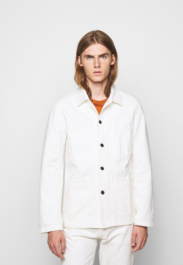 WORKER JACKET - Denim jacket - ivory