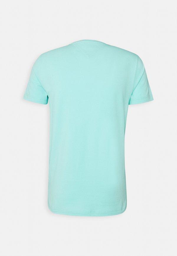 Tommy Hilfiger STRETCH TEE - T-shirt basic - miami aqua/jasnoniebieski Odzież Męska FMPM