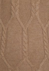 pure cashmere - MAXI SLEEVELESS PATTERNED DRESS - Jumper dress - dark beige - 2