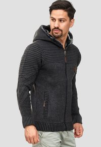 INDICODE JEANS - Zip-up hoodie - anthracite - 3