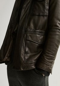 Massimo Dutti - Leather jacket - brown - 5