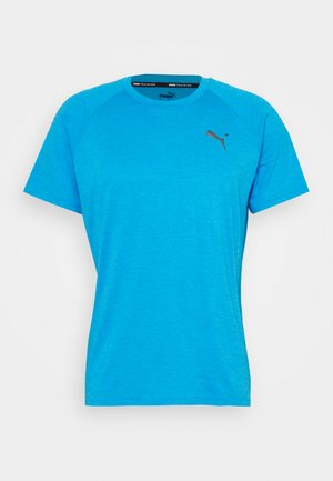 HEATHER TEE - T-shirts - blue heather