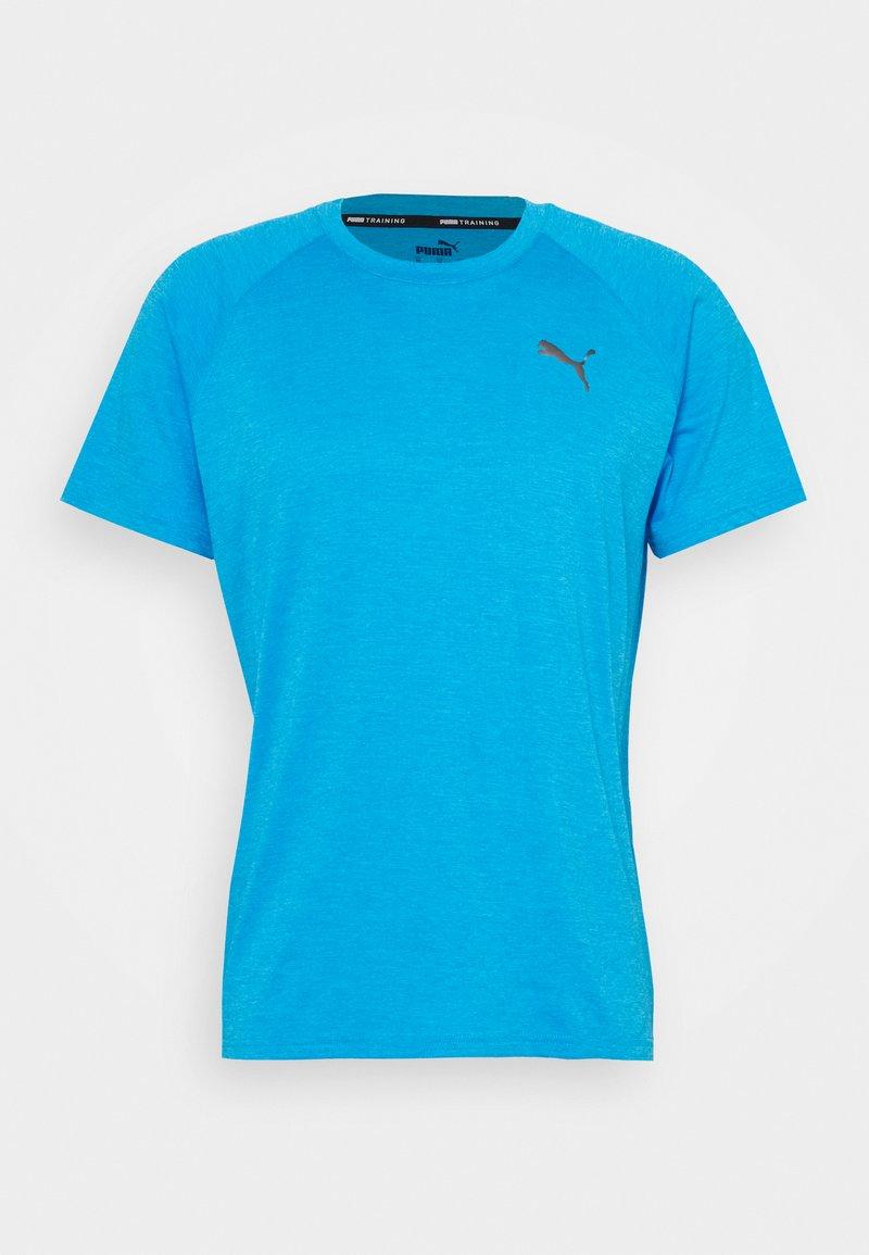 Puma - HEATHER TEE - Basic T-shirt - blue heather