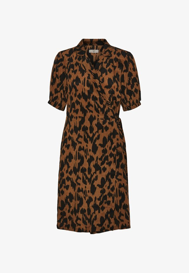 Shirt dress - brown sugar