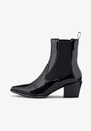 KROKO - Classic ankle boots - schwarz
