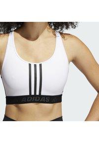 adidas Performance - Medium support sports bra - white/black - 5