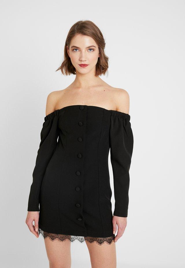 BARDOT DRESS - Pouzdrové šaty - black