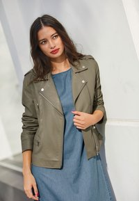 Next - Faux leather jacket - green - 0