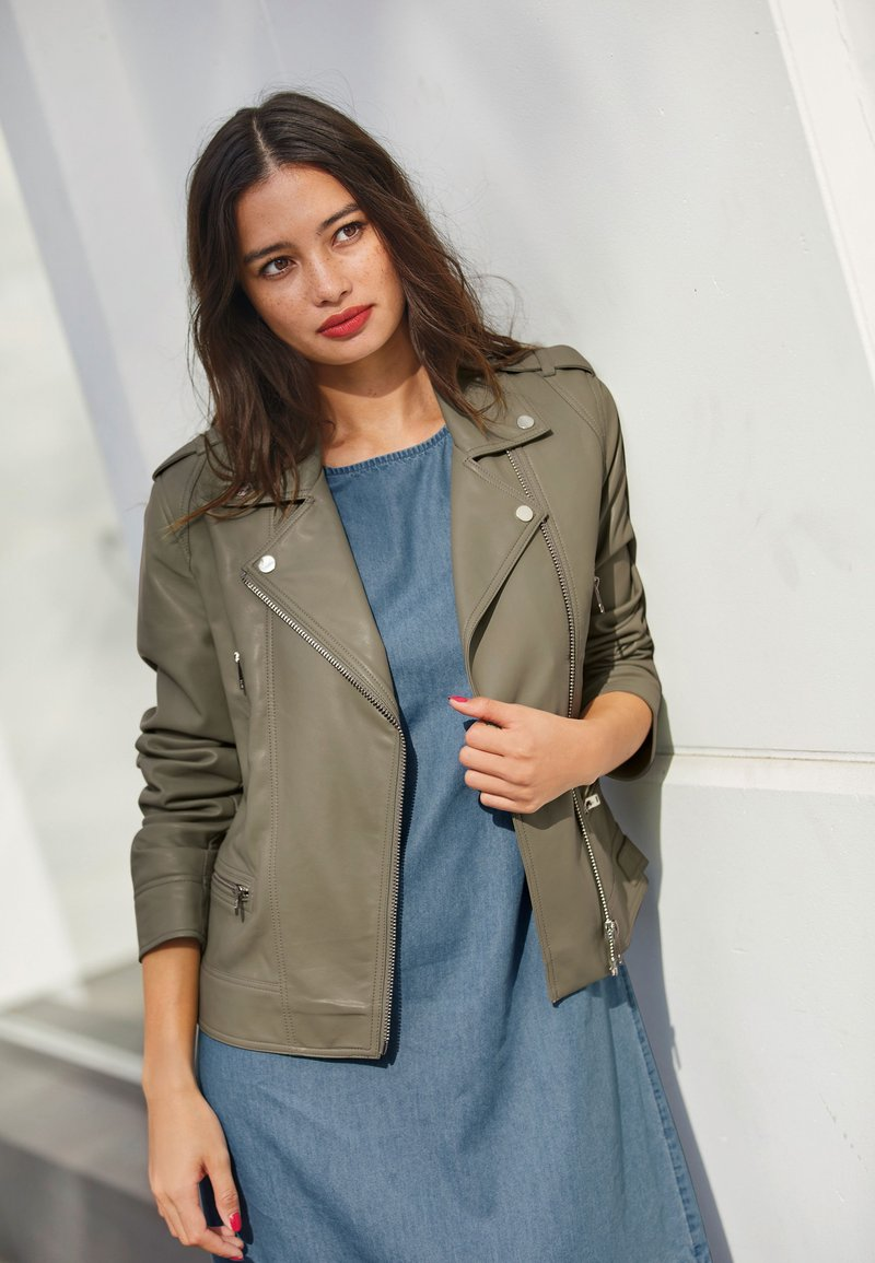 Next - Faux leather jacket - green
