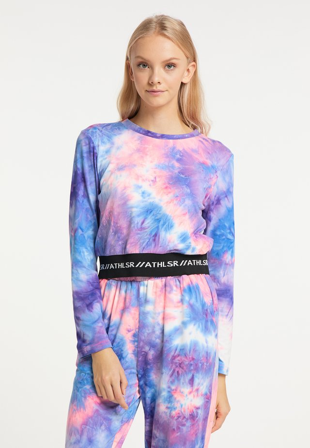 Long sleeved top - neon pink