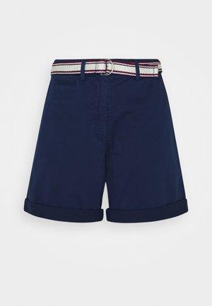 STRETCH DOBBY - Shorts - blue ink