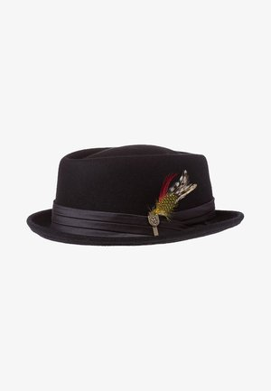 STOUT PORK PIE - Cappello - black/black