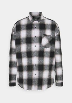 APPLIQUE CHECK - Shirt - white
