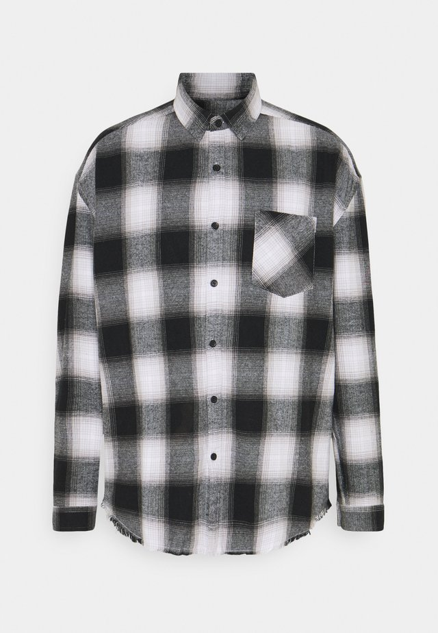 APPLIQUE CHECK - Camicia - white