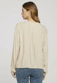 TOM TAILOR DENIM - Blouse - cozy beige melange - 2