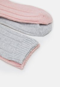 Anna Field - 2 PACK - Polvisukat - pink/light grey melange - 1