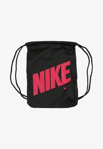 UNISEX - Drawstring sports bag - black/black/rush pink