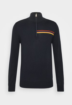 ZIP NECK - Strickpullover - dark blue